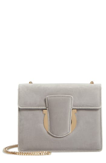 Salvatore Ferragamo Small Thalia Velvet Crossbody Bag