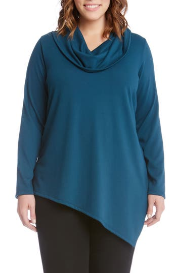 Karen Kane Asymmetrical Hem Sweater (Plus Size)