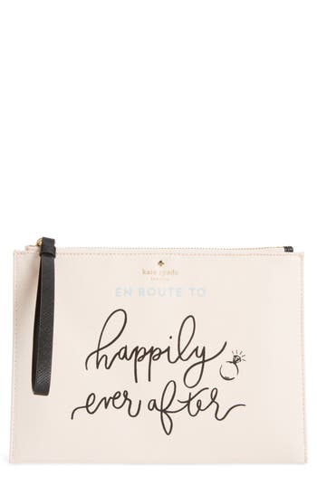 kate spade new york wedding belles - en route medium bella pouch
