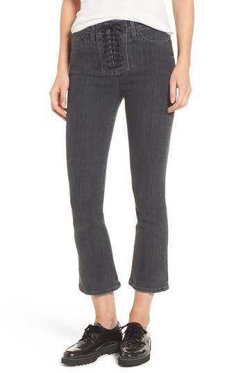 Hudson Jeans Bullocks High Waist Lace-Up Crop Jeans (Disarm)