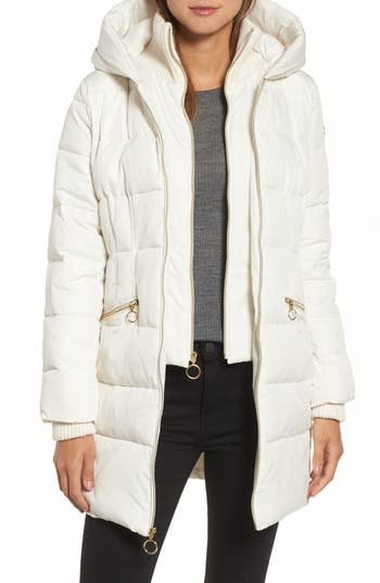 kensie Hooded Quilted Parka