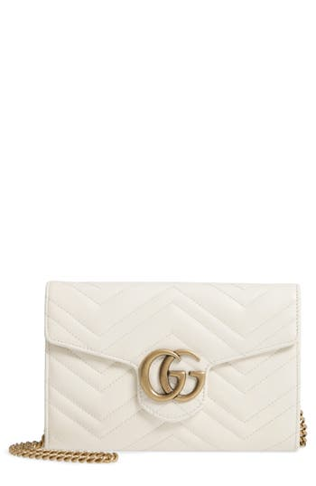Gucci GG Marmont 2.0 Matelass? Leather Wallet on a Chain