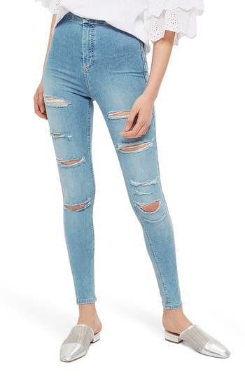 Topshop Joni Super Rip Skinny Jeans (Tall)