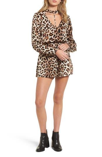 Leopard Print Choker Neck ..