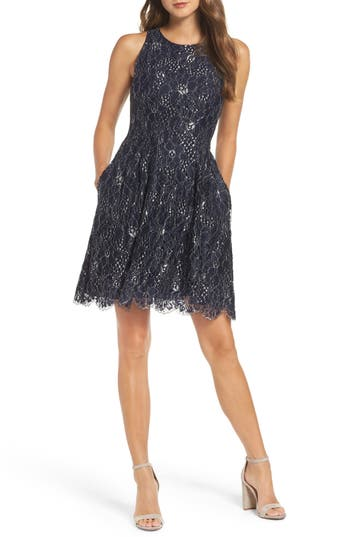 Vince Camuto Metallic Lace Fit..