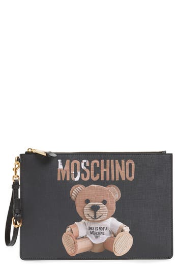 Moschino Teddy Bear Leather Pouch