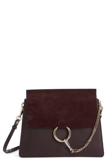 Chlo? Faye Suede & Leather Shoulder Bag