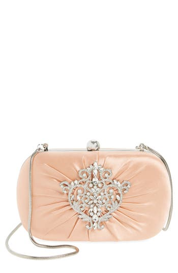 Badgley Mischka Diva Satin Clutch