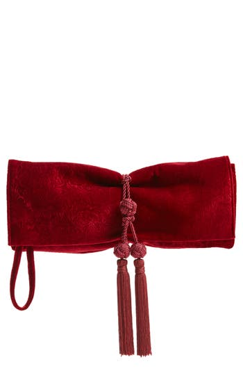 Badgley Mischka Carbon Velvet Clutch
