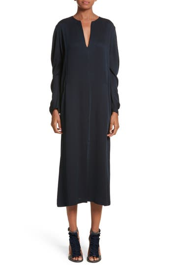 Zero + Maria Cornejo Eco Drape Midi Dress