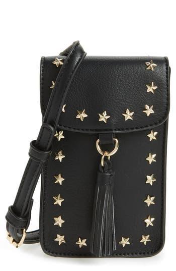 BP. Studded Faux Leather Phone Crossbody Bag