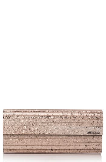 Jimmy Choo Sweetie Glitter Shadow Acrylic Clutch