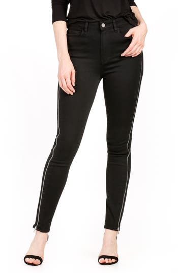 PAIGE Transcend - Margot High Waist Skinny Jeans (Black Shadow)