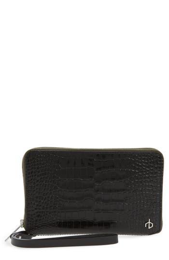 rag & bone Croc Embossed Leather Smartphone Wallet