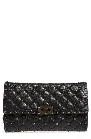 VALENTINO GARAVANI Rockstud Matelass? Quilted Leather Shoulder Bag
