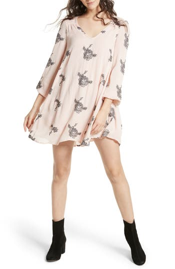 Free People 'Emma's' Embroidered Swing Dress