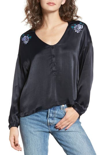 Obey Naomi Embroidered Blo..