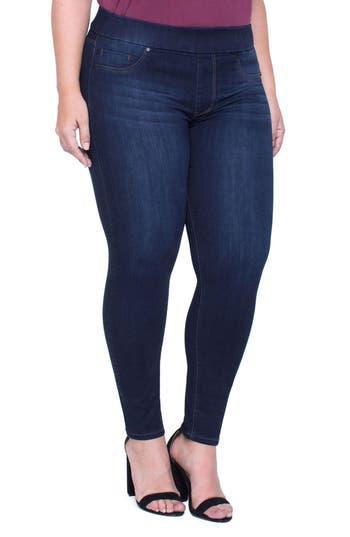 Sienna Pull On Stretch Ankle Jeans by Liverpool Jeans Company