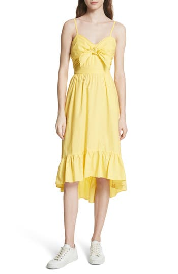 clorinda-tie-front-cutout-cotton-dress by joie