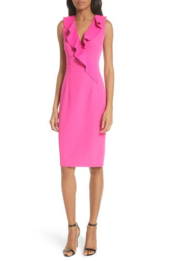 Italian Cady Luna Sheath Dress by Milly