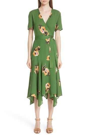 edd182227423 cora-floral-print-silk-wrap-dress by alc