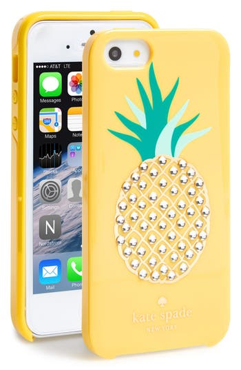 kate spade iphone 5 case kate spade new york pineapple iphone 5 amp 5s nordstrom 10284