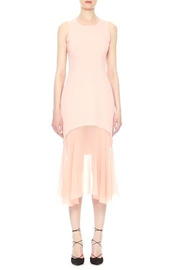 Sheer Hem Crepe Dress, video thumbnail