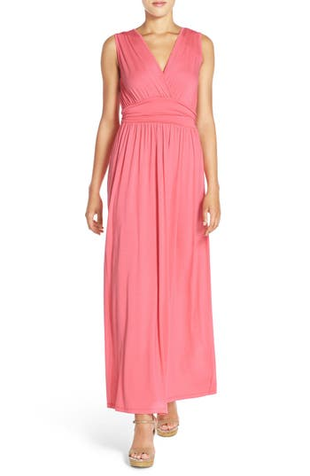Fraiche by J Surplice Jersey Maxi Dress