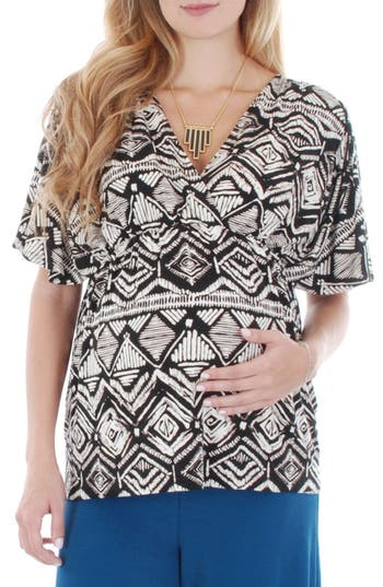 Everly Grey 'Ophelia' Print Maternity/Nursing Top