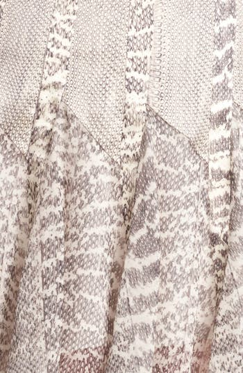 Alternate Image 3  - Jason Wu Snakeskin Print Satin & Chiffon Skirt