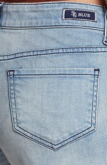 Alternate Image 3  - STS Blue Embellished High Waist Denim Cutoffs (Light) (Juniors)