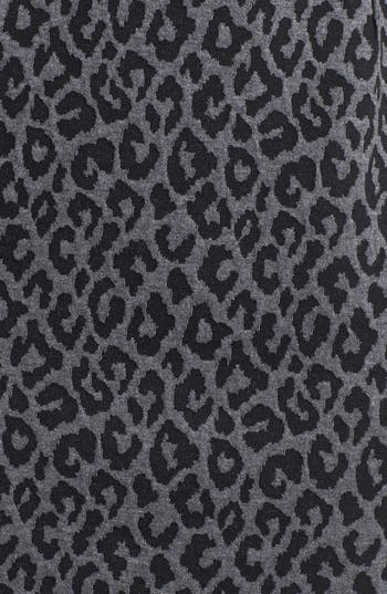 Alternate Image 3  - Calvin Klein Animal Print Cap Sleeve Ponte Sheath Dress
