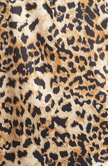 Alternate Image 3  - Vince Camuto Faux Leather Trim Leopard Print Shell (Online Only)