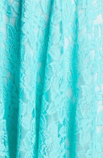 Alternate Image 3  - Faux Leather Trim Lace Skater Dress
