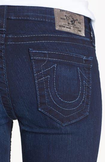 Alternate Image 3  - True Religion Brand Jeans 'Halle' Mid Rise Skinny Jeans (Starlight)