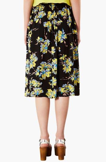 Alternate Image 2  - Topshop Dark Floral Midi Skirt