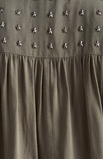 Alternate Image 3  - Chloe K Studded Yoke Sleeveless Shirt (Juniors)