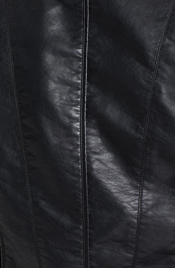 Alternate Image 3  - City Chic 'Cruz' Faux Leather Jacket (Plus Size)