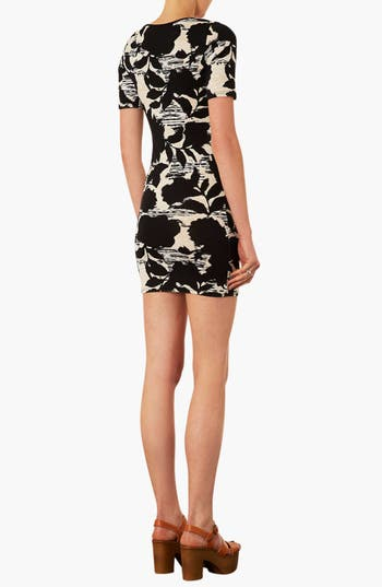Alternate Image 2  - Topshop Floral Print T-Shirt Dress