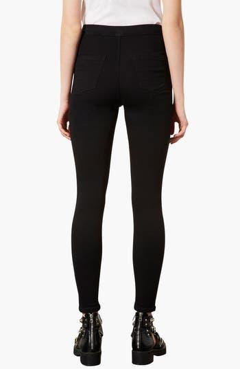 Alternate Image 2  - Topshop 'Joni' High Rise Skinny Jeans (Black)
