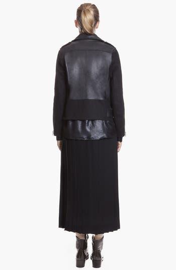 Alternate Image 2  - sandro 'Version' Belted Leather & Wool Moto Jacket