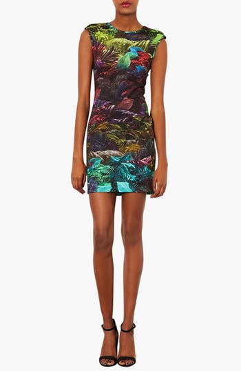 Alternate Image 1 Selected - Topshop Fern Print Body-Con Dress