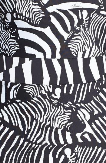 Alternate Image 3  - Trina Turk Zebra Print One Piece Swimsuit