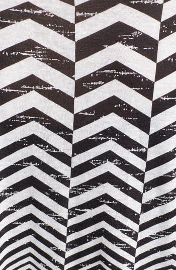 Alternate Image 3  - Chloe K Print Oversized Sleeve Crop Tee (Juniors)