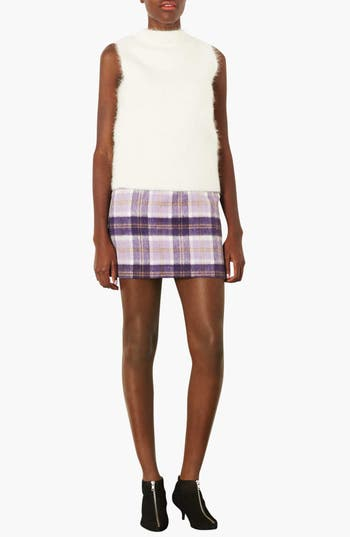 Alternate Image 3  - Topshop Checkered A-Line Skirt