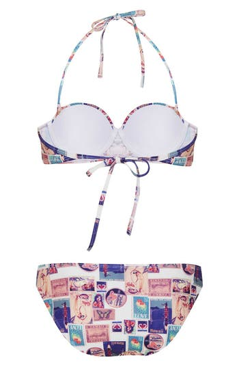 Alternate Image 2  - Topshop 'Souvenir Postcard' Bikini Set