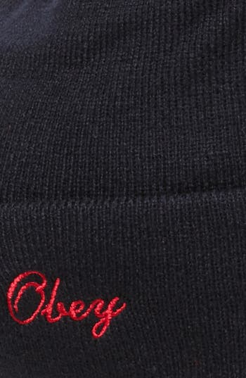 Alternate Image 2  - Obey 'Sideline' Pompom Knit Cap