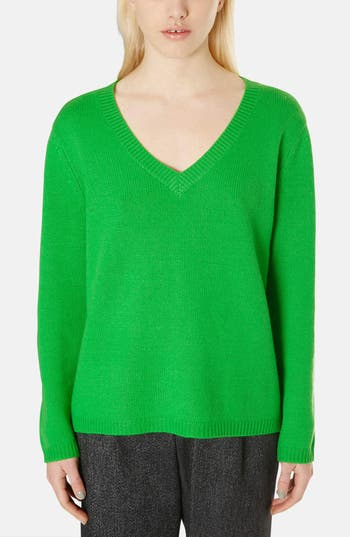 Alternate Image 1 Selected - Topshop Boutique Cashmere V-Neck Sweater
