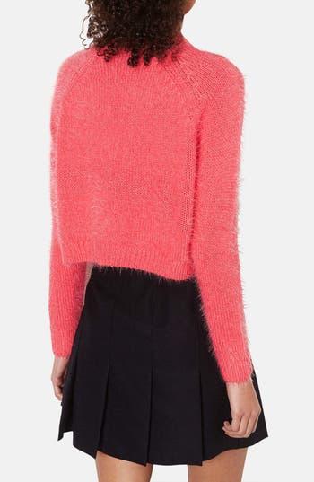 Alternate Image 2  - Topshop Textured Crop Sweater