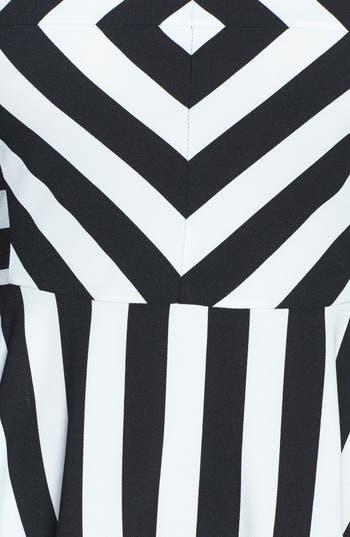 Alternate Image 4  - Cream and Sugar Stripe Fit & Flare Dress (Juniors)